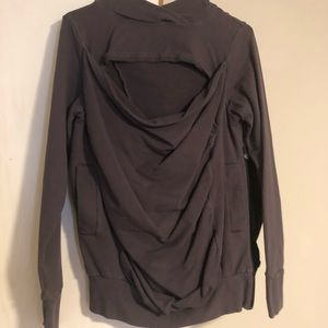 Bibs small baby wearing hoodie gray, used for sale